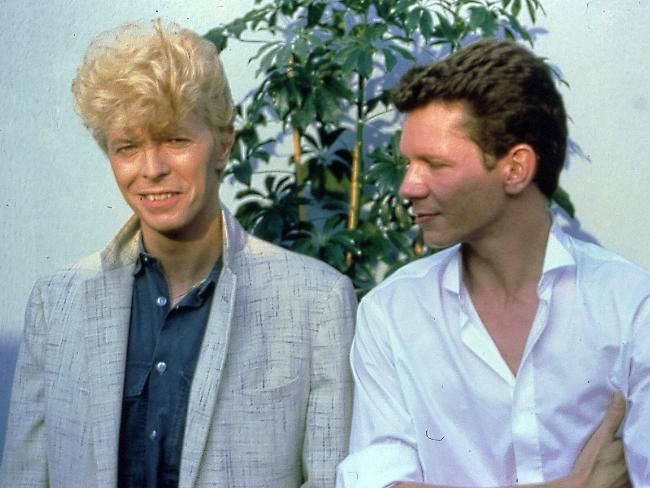 David Bowie with Iva Davies of Icehouse